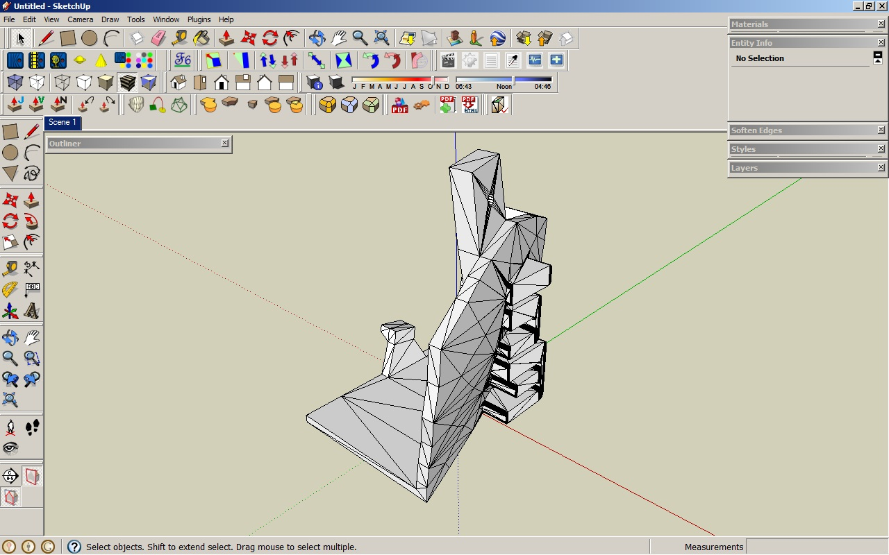 Remeshing in sketchup tutorial repper 39 s delight for Sketchup import stl